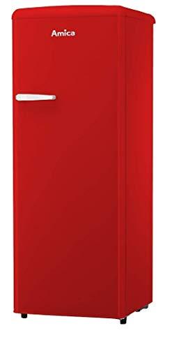 Amica Retro Kühlschrank Rot A++ 241L VKSR 354 150 R Vollraumkühlschrank LED Innenbeleuchtung
