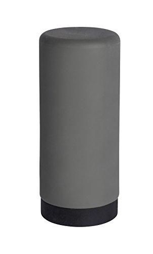 WENKO Spülmittelspender Easy Squeez-e Grau - Seifenspender Fassungsvermögen: 0.25 l, Silikon, 6 x 14 x 6 cm, Grau