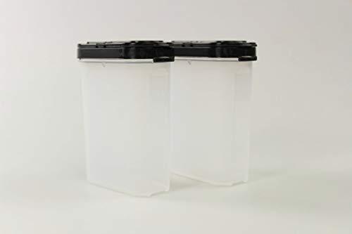 Tupperware Gewürz-Riese 270 ml (2) schwarz Gewürz Behälter Gewürzbehälter groß 36904