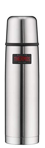 THERMOS Thermosflasche Edelstahl Light&Compact, Edelstahl mattiert 750ml, Isolierflasche mit Trinkbecher 4019.205.075 spülmaschinenfest, Thermoskanne hält 18 Stunden heiß, 24 Stunden kalt, BPA-Free