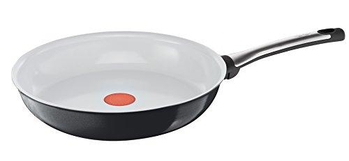 TEFAL TALENT KERAMIK Pfanne C40404 24cm | Keramikbeschichtung | für scharfes Anbraten und knusprige Ergebnisse mit etwas Öl | Thermo-Spot | für alle Herdarten geeignet, inklusive Induktion