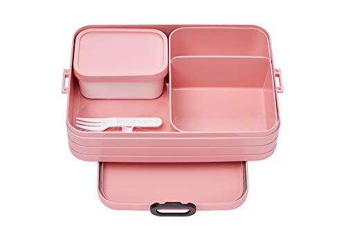 Mepal Bento-Lunchbox Take A Break Nordic pink Large – Brotdose mit Fächern, geeignet für bis zu 8 Butterbrote, TPE/pp/abs, 0 mm