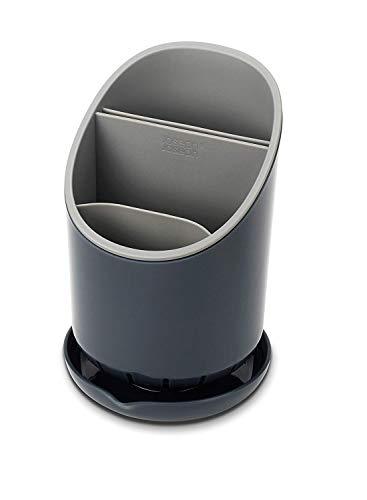 Joseph Joseph 85075 Dock Besteck-Abtropfbehälter, plastik, 12 x 12,7 x 19 cm, dunkelgrau