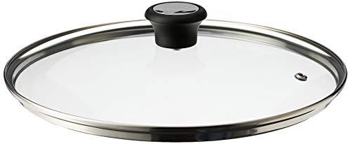 Tefal Glasdeckel 280977   28 cm   Überlaufschutz   Einfache Handhabung   Dampfauslassventil   Edelstahlrand   Spülmaschinengeeignet   Bis 175°C für den Backofen geeignet