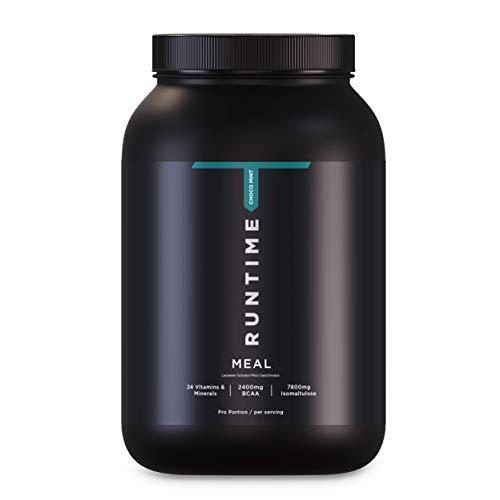 Runtime Meal - vollwertiger Mahlzeitersatz für langanhaltende Sättigung, Energie, Konzentration und Leistungsfähigkeit, mit Vitaminen und Nährstoffen (Choco-Mint)