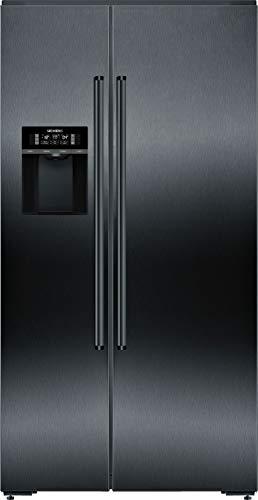 Siemens KA92DHXFP iQ700 Side-by-Side Kühl-Gefrier-Kombination / F / 419 kWh/Jahr/ 585 l / Smart Home kompatibel via Home Connect / hyperFresh Plus / noFrost / bigBox / superFreezing