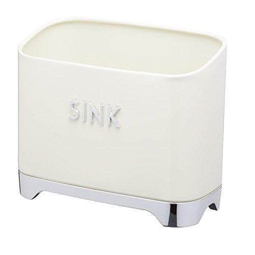 KitchenCraft Lovello Retro-Behälter für Spülutensilien, 20 x 10 x 17 cm (8' x 4' x 6,5') - Vanillecremefarben