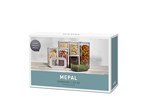 Mepal Vorratsdosen Modula 7-teilig – Starter-Set – ideal für die Aufbewahrung von trockenen Lebensmitteln – spülmaschinenfest, Kunststoff, Weiß