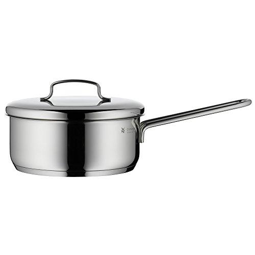 WMF Mini Stielkasserolle 16cm Metalldeckel, Kochtopf klein 1,2l, Milchtopf, kleiner Topf für Singlehaushalt, Cromargan Edelstahl, Induktion, stapelbar