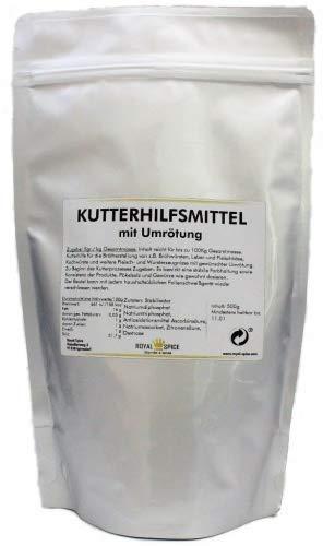 Royal Spice Kutterhilfsmittel mit Umrötung - 500g - Ultra ergiebig für bis zu 100kg - Zur Herstellung von Brühwürsten mit Pökelsalz