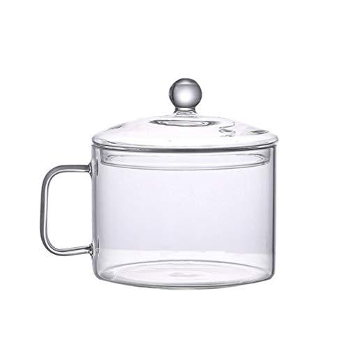 BESTONZON Glastopf Glaskochtopf Suppentopf Hohe Borosilikatglas Schüssel Hitzebeständig Glaskocher für Home Küche Restaurant 15cm