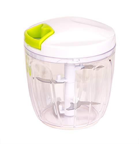 BigDean Multi-Zerkleinerer mit Seilzug 900 ml - manuell ohne Strom schneiden in Sekunden - Gemüseschneider Zwiebelschneider Multi-Schneider für Zwiebeln, Gemüse und Obst