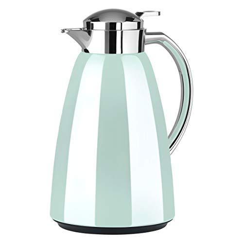 Emsa Campo Isolierkanne F4130300   1L Füllmenge   Quick Tip Verschluss   100% dicht   12h warm, 24h kalt   Premium Edelstahl   Einfache Reinigung   Pastell-Mint