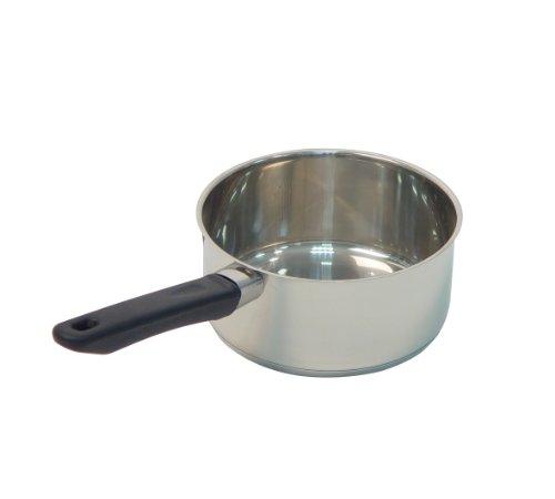 axentia Stieltopf Elsass in Silber, Stielkasserolle aus rostfreiem Edelstahl, hochwertiger hitzereduzierender Kunststoffgriff, geeignet für alle Herdarten, Kochtopf ist spülmaschinengeeignet