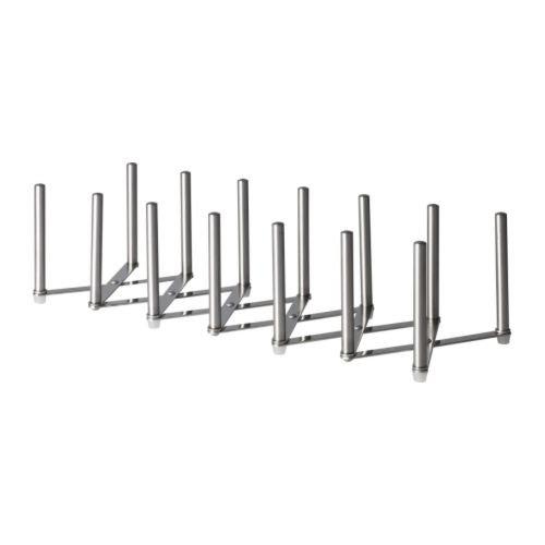 Ikea Variera Deckelhalter aus Edelstahl, Länge verstellbar