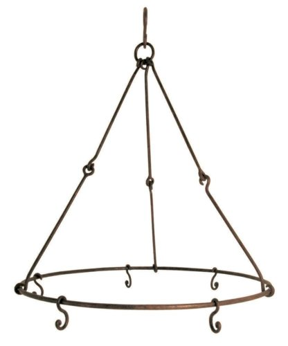 2 Stück Esschert Design Kräutertrockner, Gewürztrockner, rustikal, mit fünf Haken, antik wirkend, Ø ca. 35 cm