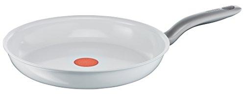 Tefal C90806 Ceramic Control Induction Pfanne 28 cm, weiß