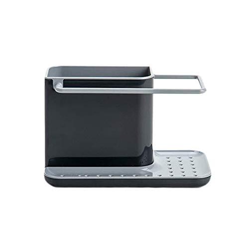 Aufbewahrung von Küchenutensilien Spüle Schwammhalter Ordnungshelfer Spülbecken-Organizer Küchen-utensilienhalter für die Spülbecken Grau