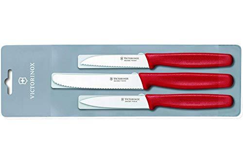 Victorinox 3-teiliges Küchenmesser-Set Standard für Gemüse (Gemüsemesser, Spülmaschinengeeignet)