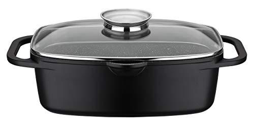GSW 410182 Universalbräter Gourmet Granit 33x21cm, Aluminium, Glas, schwarz