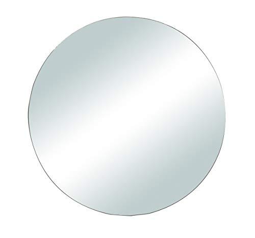 Rayher 46453000 Spiegelplatte rund zum Selbstgestalten und Dekorieren, Spiegelteller für Tischdeko, 20 cm