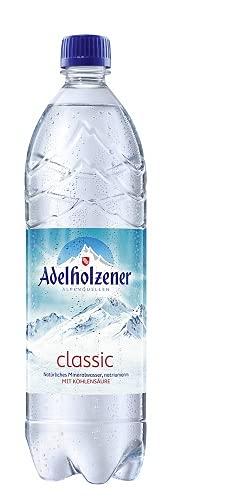 Adelholzener classic naturliches mineralwasser, NATRIUMARM mit kohlensaure, 6er Pack, EINWEG (6 x 1 l)