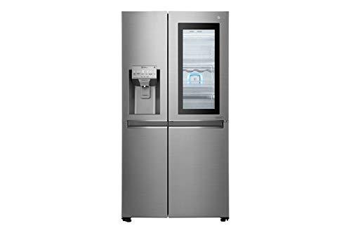 LG GSI960PZAZ Kühlschrank mit Seitentür, Edelstahl, 601 l, A++ - Side-by-Side Kühlschrank (Edelstahl, amerikanische Tür, LED, R600a, Glas / Kunststoff)