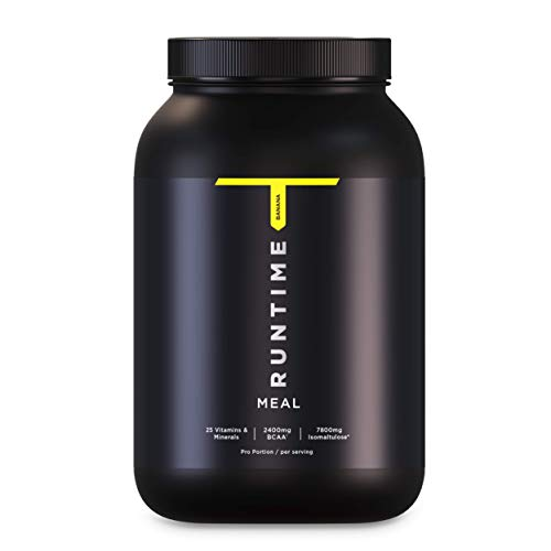 Runtime Meal - 15 Mahlzeiten   vollwertiger Mahlzeitersatz für langanhaltende Sättigung, Energie, Konzentration und Leistungsfähigkeit, mit Vitaminen und Nährstoffen (Banana)