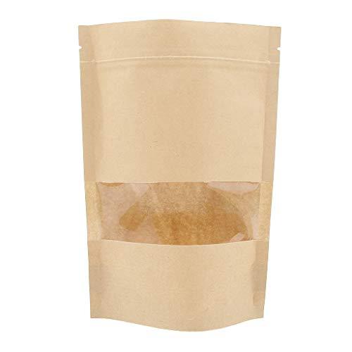 SM SunniMix 100x Lebensmittelverpackung Hohe Temperaturbeständig Grease beständig Papiersäcke Papiertaschen selbstdichtende Taschen 14 x 22 cm