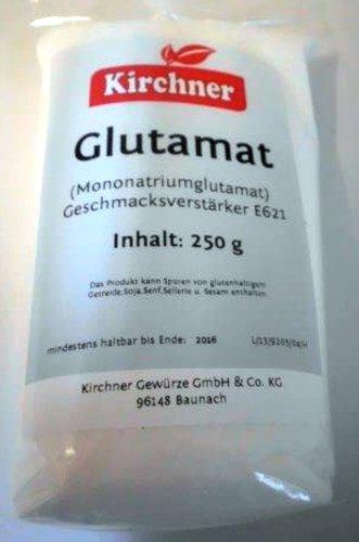 1a Kirchner Gewürze 39619 GLUTAMAT Geschmacksverstärker --- Klarsichtbeutel 250g