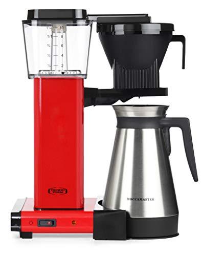 Moccamaster Filter Kaffeemaschine KBGT Thermos, 1.25 Liter, 1450 W, Red