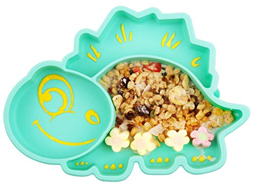 Baby Teller Schüssel Mini Silikon für Baby Kleinkinder und Kinder Tragbar Teller Baby Rutschfest Babyteller Tischset Abwaschbar für Spülmaschine, Mikrowelle
