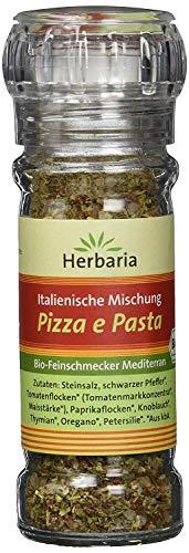 Herbaria 'Pizza e Pasta' italienische Mischung, 1er Pack (1 x 50 g Glasmühle) - Bio
