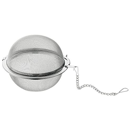 WMF Gourmet Teesieb 6,5 cm, Teekugel mit Kette, Teeei, Gewürzsieb, Gewürzei, Cromargan Edelstahl poliert, spülmaschinengeeignet