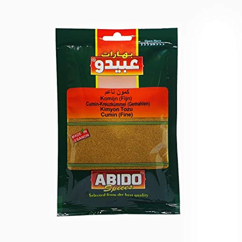 Abido - Orientalischer Kreuzkümmel gemahlen - Cumin Gewürz Pulver in 50 g Packung