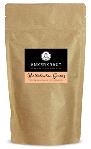 Ankerkraut Brathähnchen Gewürz, Brathähnchenmarinade für knuspriges Hähnchen, 250g im aromadichten Beutel