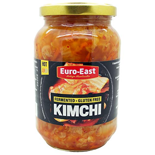 Euro-East Kimchi 6er-Pack im Glas, eingelegter Kohl im koreanischen Stil, vegan, glutenfrei, mittlere Schärfe für europäischen Geschmack (6x460g)