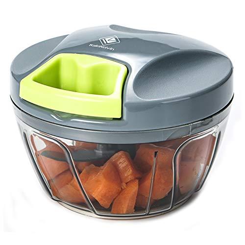 Kalokelvin Nahrungsmittelzerhacker Manueller Chopper zum Hacken von Obst, Fleisch, Nüssen, Kräutern, Zwiebeln, Gemüse Mixer Processor (400ML) …
