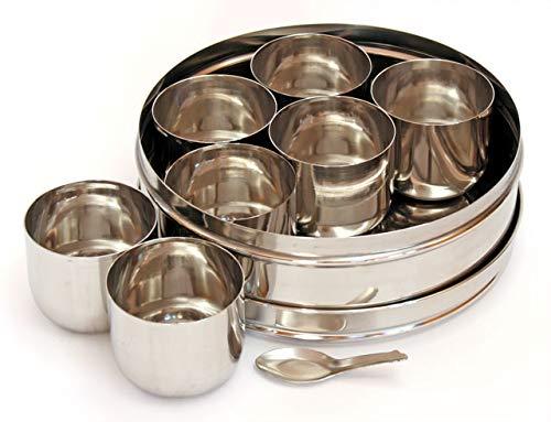Shradha Trading Masala-Box, Edelstahl Gewürzbox, Edelstahl Masala Dabba, Edelstahl Gewürzbehälter, indische Gewürzbox, Küche Gewürzbox, Gewürzbox für Köche
