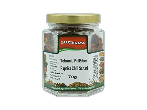 Paprika Pulbiber - 70g - Gewürze im Glas - geschrotet Scharf - Premium Qualität
