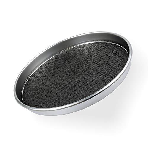chg 3152-05 Serviertablett Antirutsch, extra starke Edelstahl rostfrei-Qualität 0,7 mm, Höhe: 4,0 cm, Durchmesser: 40 cm