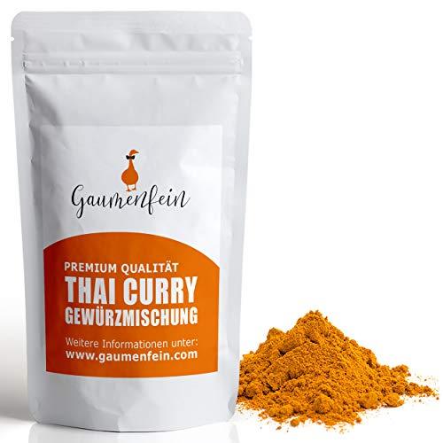 GAUMENFEIN® Rotes Thai Curry Pulver Scharf - Gewürzmischung - 100% natürliche Premium Qualität - 250g