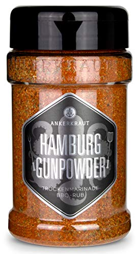 Ankerkraut Hamburg Gunpowder, Rub Gewürzmischung, der Ankerkraut Haus-Rub, 200g im Streuer