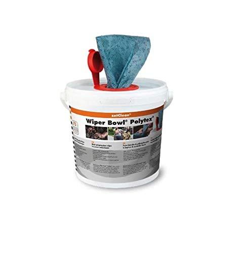 ZVG zetClean 50130-001 Wiper Bowl Polytex Reinigungstücher, blau, 25 x 25 cm ( 72 Stück)