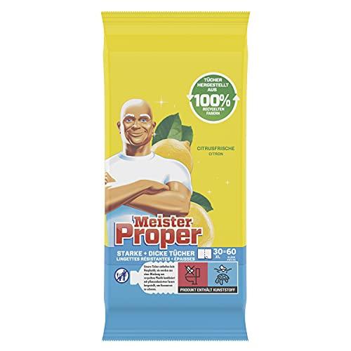 Meister Proper Reinigungstücher (480 Tücher) Mediterrane Zitrone, schnelle und effektive Reinigung ohne Bleichmittel (8 x 60)
