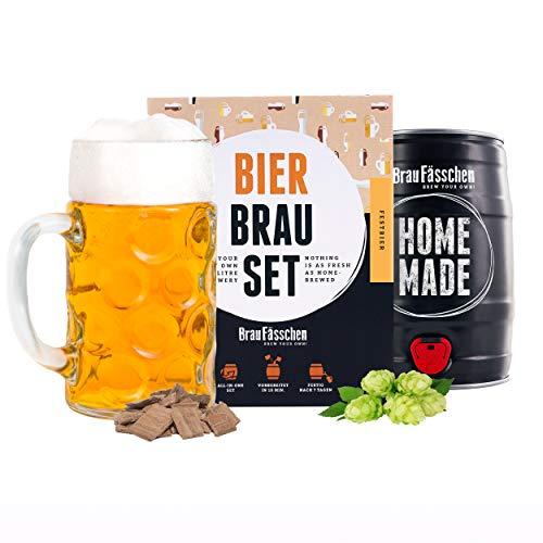braufaesschen | Männergeschenk Bierbrauset zum selber brauen | Festbier im 5 Liter Fass | In 7 Tagen gebraut | Tolles Geburtstagsgeschenk für Männer