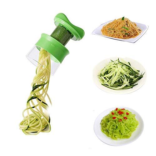 YISUYA Gemüseschredder für Spaghetti-Spiral-Chopper, Karotte, Gurke, Kartoffel, Kürbis, Zucchini, Zwiebel-Gemüseschneider