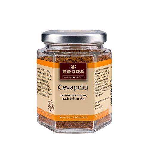 Premium Qualität Gewürz EDORA Schraubglas Cevapcici Hackfleisch Gewürzmischung 95 Gramm