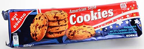 Gut und Günstig Cookies American Style, 12er Pack (12 x 225g)