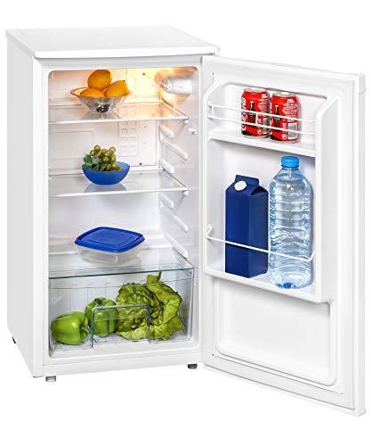Exquisit Kühlschrank KS 85-9 RVA+PV | Kühlen 82 Liter | Breite 45 cm | Türanschlag wechselbar | Weiß